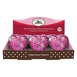 Solid All Natural Milk Chocolate Hearts - 24ct