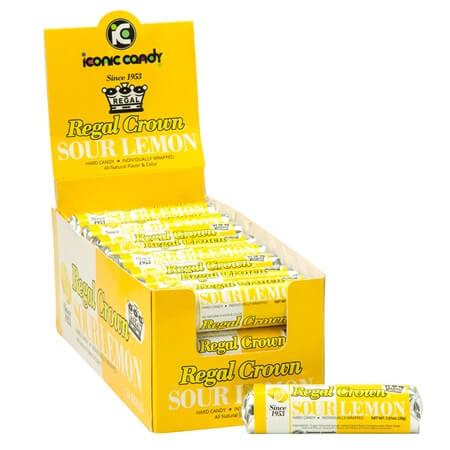 Sour Lemon Candy Roll - 24ct