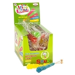 Sour Wrapped Rock Candy Sticks - 25ct
