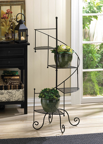 Spiral Plant Stand Floral Shop Fixture Iron Display