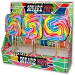 Square Rainbow Pops - 12ct
