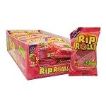 Strawberry Sour Rip Rolls - 24ct