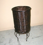 Tall Willow Basket Stand