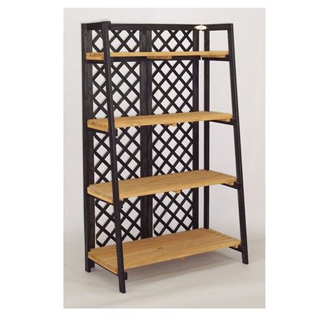 tapered wood folding display wood floor fixture retail. Black Bedroom Furniture Sets. Home Design Ideas