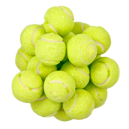 Sour TENNIS BALL GumBALLS - 2.2lbs