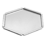 Textured Stainless Steel Hexagon Tray - Size Choice