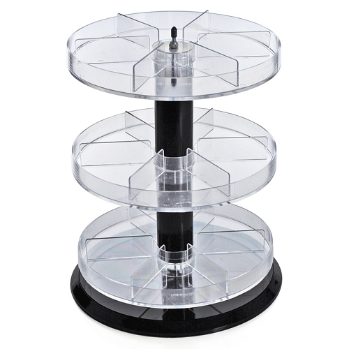 Three Tier Counter Display With Dividers Acrylic Displays