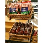 2 Tier Square Willow Basket Counter Display Rack