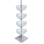 4 Tiered Bowl Floor Display - 16