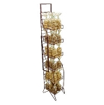 5 Shelf Ornate Fold Up Rack