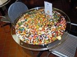 Acrylic Bistro Table With Candy Center