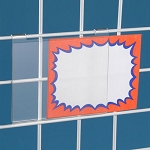 Acrylic Gridwall Sign Holder 5.5W x 3.5H