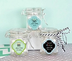 Birthday Mini Glass Jars w/Lids - Personalized - 24ct
