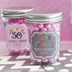 Birthday Miniature Glass Mason Jars - 24ct
