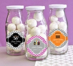 Birthday Personalized Glass Milk Bottles - 24ct