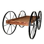 Buckboard Wood Cart  - Toasted Finish