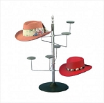 Chrome Countertop Millinery Display