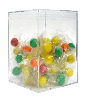 42 oz Jumbo Square Clear Box - 24ct