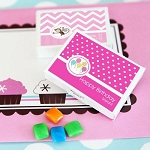 Kids Birthday Personalized Gum Boxes - 24ct