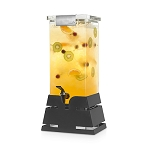 Locking Beverage Dispenser - Black Pyramid Base