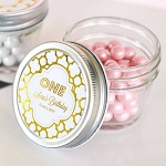 Metallic Foil Birthday Small Glass Mason Jars - 24ct
