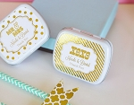Metallic Foil Wedding Mint Tins - 24ct