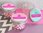 Personalized Kids Birthday Small Glass Jars - 24ct