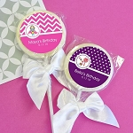 Personalized Kids Birthday Lollipops - 24ct