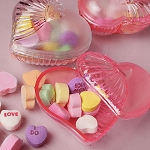 Plastic Heart Containers - 36ct