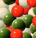 Red White & Green Gumballs - 1