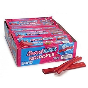 Sweetart Soft & Chewy Cherry Ropes - 24ct