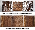 Tree of Life Natural Wood Wall Panel Set