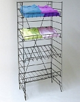 Wire Black 4-Shelf Floor Fixture