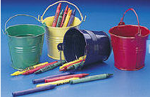 Bright Mini Tin Pails - 24ct