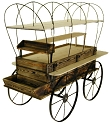 Covered Wagon Kiosk - Treated Wood