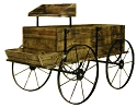 Western Wagon Display - Treated Wood