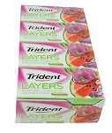 Trident Layers Watermelon/Tropical Fruit - 12ct