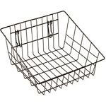 White Sloped Front Basket - For Gridwall/Slatwall/Pegboard