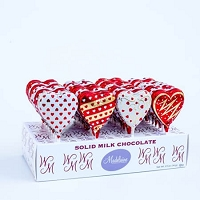 Chocolate Heart Pops - 40ct