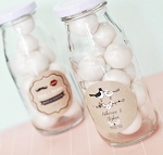 Vintage Wedding Glass Milk Bottles - 24ct