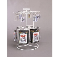 White 12 Peg  2 Tier Counter Spinner
