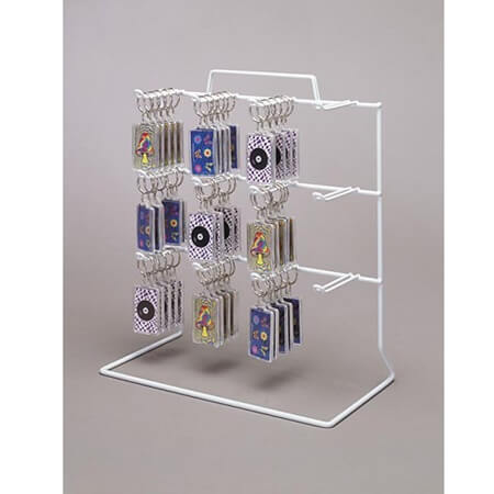 12 Peg 3 Tier Counter Rack White Wire Display Impulse