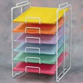White 6-Tier Paper Rack - 8.5x11