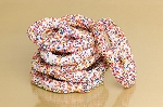 White Chocolate & Sprinkle Pretzels - 3lbs