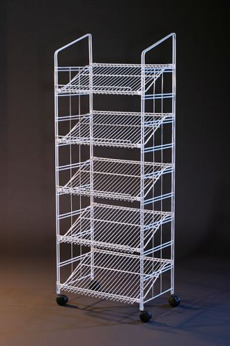 White Modular Display Rack 64 Inch C Store Fixture