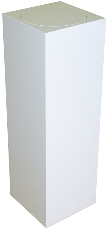 White Pedestal : ... Laminate Pedestals > Tall Laminate Turntable Pedestal - Black or White