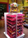 White 4 Way Candy Display Package