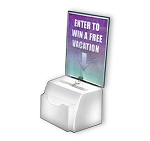 White Medium Molded Suggestion Box