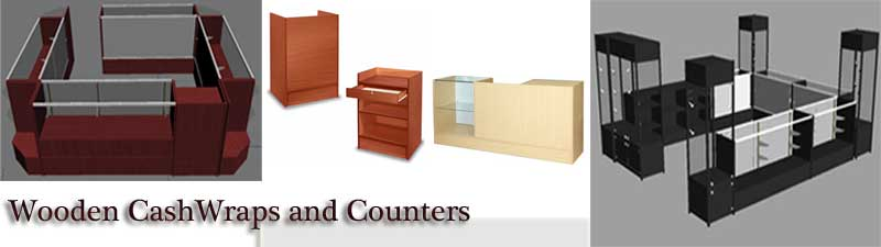 Wooden Cash Wraps and Counters
