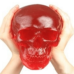 World's Largest Cherry Gummy Skull - 7lbs
